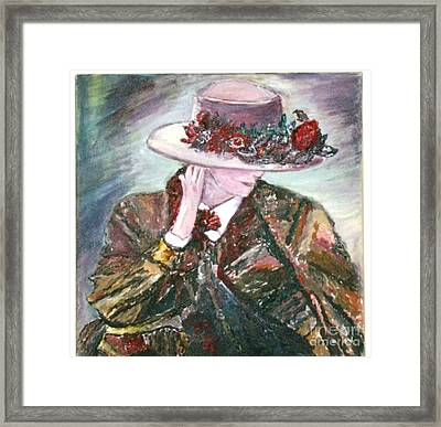 I Borrowed My Mother's Hat Framed Print