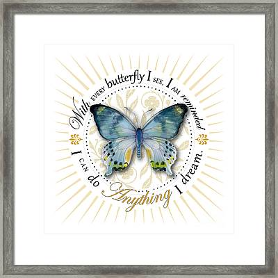 I Can Do Anything I Dream Framed Print by Amy Kirkpatrick