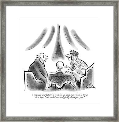 I Can Read Your Future Framed Print