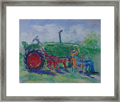 I Can Tell You Anything You Want To Know About This Tractor Framed Print