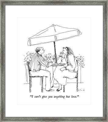 I Can't Give You Anything But Love Framed Print by Richard Cline