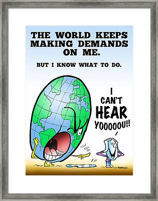 I Can't Hear You Framed Print by Mark Armstrong