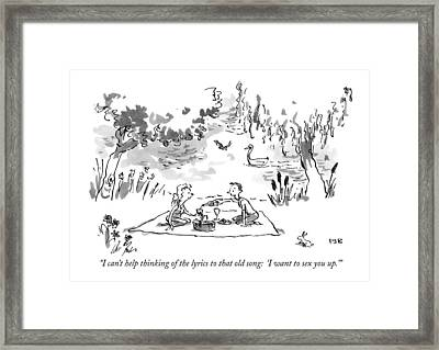 I Can't Help Thinking Of The Lyrics To That Old Framed Print by Pat Byrnes