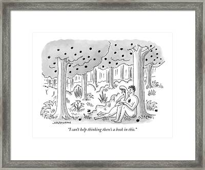I Can't Help Thinking There's A Book In This Framed Print by Mick Stevens