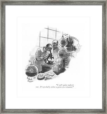 I Can't Quite Make It Out. It's Probably Either Framed Print by Richard Decker