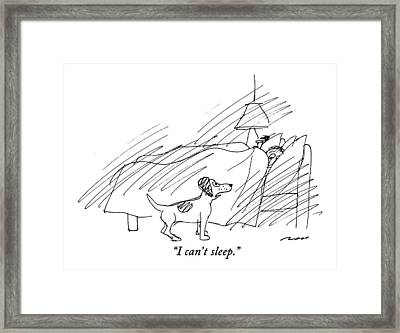 I Can't Sleep Framed Print by Al Ross
