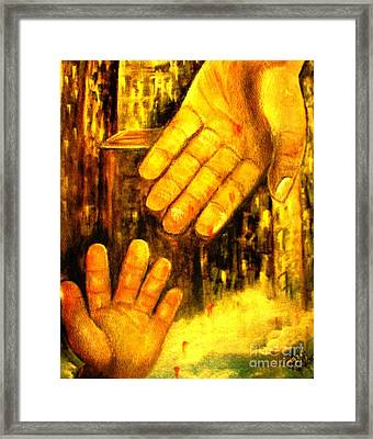 Framed Print featuring the painting I Chose You by Hazel Holland