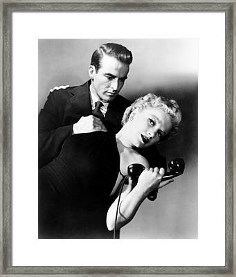 I Confess, From Left, Montgomery Clift Framed Print by Everett