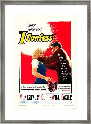 I Confess, Us Poster Art, From Left Framed Print by Everett