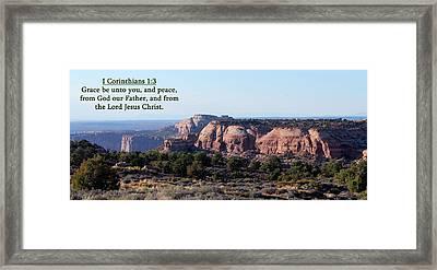 I Corinthians 1-3 Canyonlands N P  Framed Print