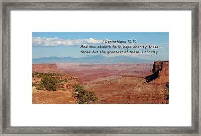 I Corinthians 13-13 Canyonlands N P Framed Print
