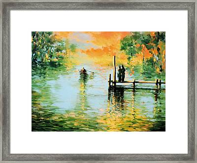 I Didn't Pay The Ferryman Framed Print by Andrew Hewkin