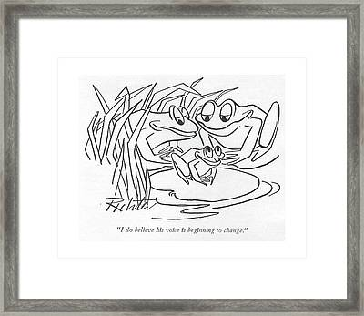 I Do Believe His Voice Is Beginning To Change Framed Print by Mischa Richter