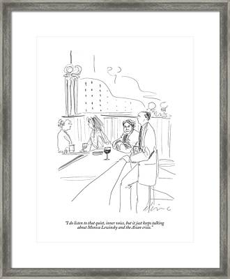 I Do Listen To That Quiet Framed Print by Richard Cline