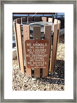 Framed Print featuring the photograph I Don T Think So. . .  by Marie Neder