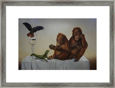 I Don.t Have Any Left Framed Print by Clive Holden