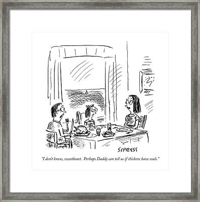 I Don't Know Framed Print by David Sipress