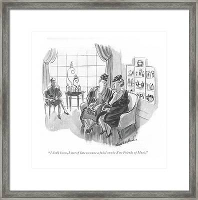 I Don't Know Framed Print by Helen E. Hokinson