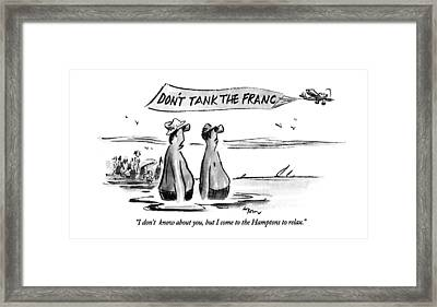 I Don't Know Framed Print by Lee Lorenz