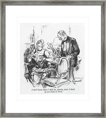 I Don't Know What Framed Print by Oscar Howard
