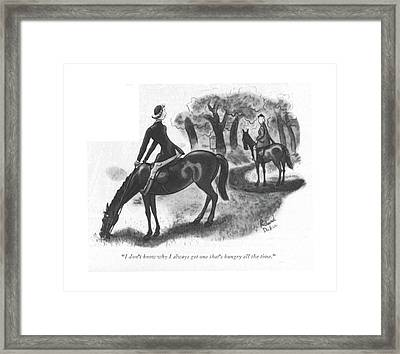 I Don't Know Why I Always Get One That's Hungry Framed Print by Richard Decker
