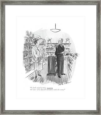 I Don't Mind If They Mention The War - If Framed Print