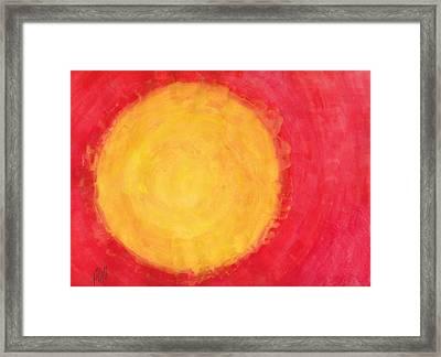I Don't Mind The Sun Sometimes Framed Print