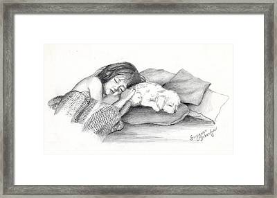 I Dont Need A Nap Mom Framed Print by Suzanne Schaefer