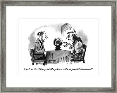I Don't See The Whitney Framed Print by Mike Twohy