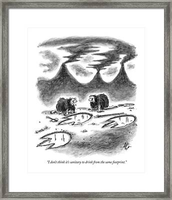 I Don't Think It's Sanitary To Drink Framed Print by Frank Cotham