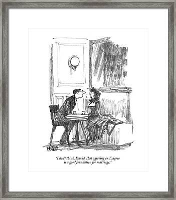I Don't Think Framed Print by Robert Weber