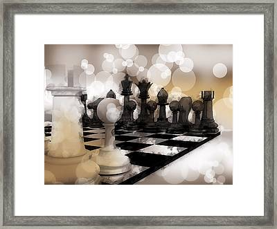 I Dream Of Chess ... Framed Print by Daniel Hagerman