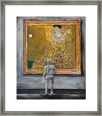 I Dream Of Klimt Framed Print by Nik Helbig