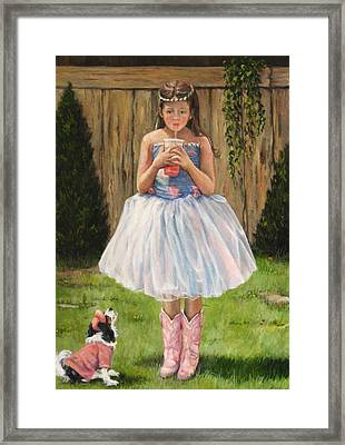 Framed Print featuring the painting I Dressed Myself by Donna Tucker