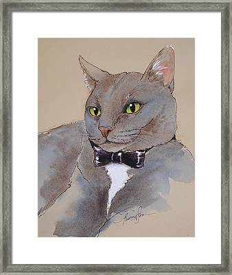 Bond Villain Kitty Framed Print by Tracie Thompson