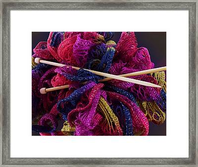 I Feel Frilly Framed Print by Ginny Schmidt