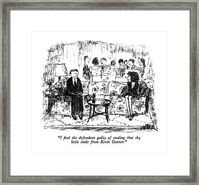 I Find The Defendant Guilty Of Stealing That Shy Framed Print by Robert Weber