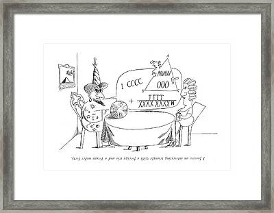 I Foresee An Interesting Triangle With A Foreign Framed Print by Saul Steinberg