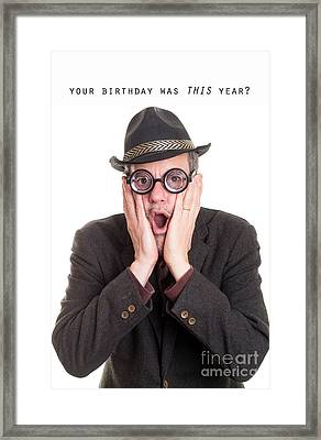 I Forgot Your Birthday Framed Print by Edward Fielding