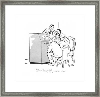 I Found Her One Night When I Was Idly Toying Framed Print by Carl Rose
