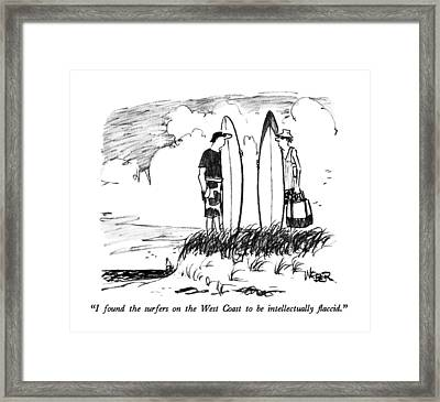 I Found The Surfers On The West Coast Framed Print