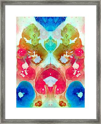 I Found Your Dog - Art By Sharon Cummings Framed Print by Sharon Cummings