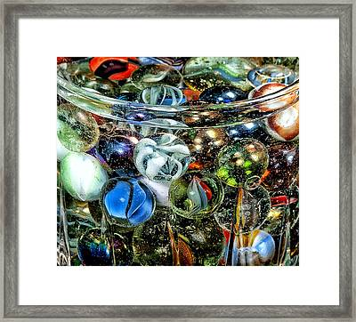 I Found Your Marbles Framed Print by Camille Lopez