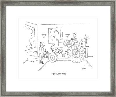 I Got It From Ebay Framed Print by Ken Krimstein