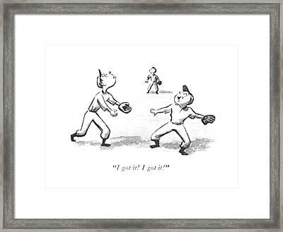 I Got It! I Got It! Framed Print by William Steig