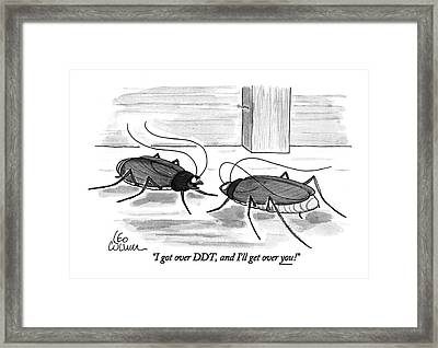 I Got Over Ddt Framed Print by Leo Cullum