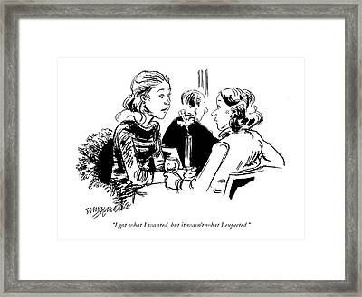 I Got What I Wanted Framed Print by William Hamilton