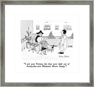 I Got Your Postum Framed Print by Victoria Roberts