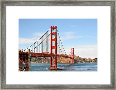 I Guard The California Shore - Golden Gate Bridge San Francisco Ca Framed Print by Christine Till