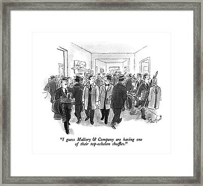 I Guess Mallory & Company Are Having One Framed Print by Stan Hunt
